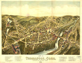 Vintage Thomaston Print, Aerial Thomaston Photo, Vintage Thomaston CT Pic, Old Thomaston Photo, Thomaston Connecticut Poster, 1879