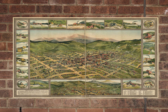 Vintage Cripple Creek Print, Aerial Cripple Creek Photo, Vintage Cripple Creek CO Pic, Old Cripple Creek Pic, Cripple Creek Colorado Poster