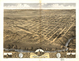 Vintage Shelbyville Print, Aerial Shelbyville Photo, Vintage Shelbyville IL Pic, Old Shelbyville Photo, Shelbyville Illinois Poster, 1869