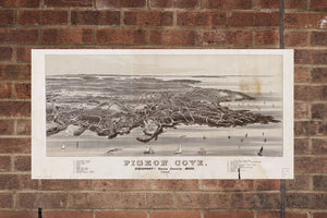 Vintage Pigeon Cove Print, Aerial Pigeon Cove Photo, Vintage Pigeon Cove MA Pic, Old Pigeon Cove Photo, Pigeon Cove Massachusetts Poster