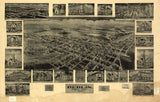 Vintage Berlin Print, Aerial Berlin Photo, Vintage Berlin PA Pic, Old Berlin Photo, Berlin Pennsylvania Poster, 1905