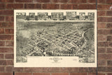 Vintage Franklin Print, Aerial Franklin Photo, Vintage Franklin VA Pic, Old Franklin Photo, Franklin Virginia Poster, 1907