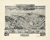 Vintage Midland Print, Aerial Midland Photo, Vintage Midland MD Pic, Old Midland Photo, Midland Maryland Poster, 1905