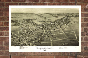 Vintage Downingtown Print, Aerial Downingtown Photo, Vintage Downingtown PA Pic, Old Downingtown Photo, Downingtown Pennsylvania Poster