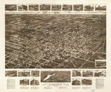 Vintage Hammonton Print, Aerial Hammonton Photo, Vintage Hammonton NJ Pic, Old Hammonton Photo, Hammonton New Jersey Poster, 1926