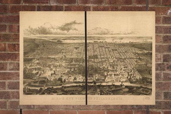 Vintage Philadelphia Print, Aerial Philadelphia Photo, Vintage Philadelphia PA Pic, Old Philadelphia Photo, Philadelphia Pennsylvania Poster