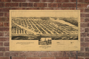 Vintage Asbury Park Print, Aerial Asbury Park Photo, Vintage Asbury Park NJ Pic, Old Asbury Park Photo, Asbury Park New Jersey Poster, 1881