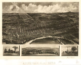 Vintage Concord Print, Aerial Concord Photo, Vintage Concord NH Pic, Old Concord Photo, Concord New Hampshire Poster, 1899