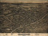 Vintage Albion Print, Aerial Albion Photo, Vintage Albion NY Pic, Old Albion Photo, Albion New York Poster, 1880