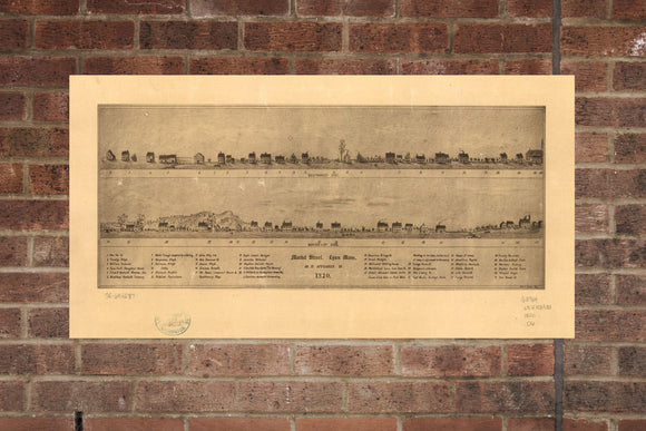 Vintage Lynn Print, Aerial Lynn Photo, Vintage Lynn MA Pic, Old Lynn Photo, Lynn Massachusetts Poster, 1820