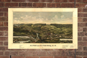 Vintage Alton Print, Aerial Alton Photo, Vintage Alton VA Pic, Old Alton Photo, Alton New Hampshire Poster, 1888