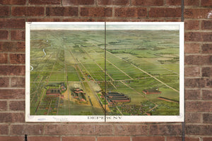 Vintage Depew Print, Aerial Depew Photo, Vintage Depew NY Pic, Old Depew Photo, Depew New York Poster, 1898