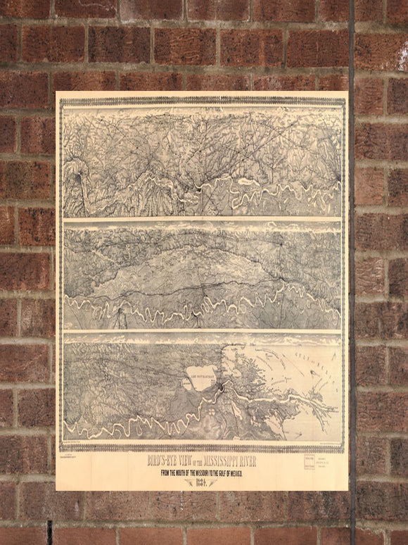 Vintage Missouri Print, Aerial Missouri Photo, Vintage MO Pic, Old Missouri Photo, Missouri Poster, 1884