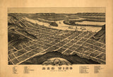 Vintage Red Wing Print, Aerial Red Wing Photo, Vintage Red Wing MN Pic, Old Red Wing Photo, Red Wing Minnesota Poster, 1880