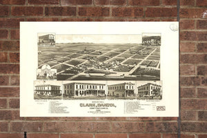 Vintage Clark Print, Aerial Clark Photo, Vintage Clark SD Pic, Old Clark Photo, Clark South Dakota Poster, 1883