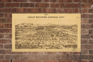 Vintage Central City Print, Aerial Central City Photo, Vintage Central City CO Pic, Old Central City Photo, Central City Colorado Poster