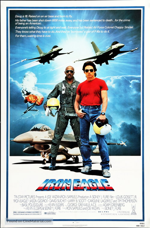 Iron Eagle Poster//Iron Eagle Movie Poster//Movie Poster//Poster Reprint