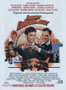 Johnny Dangerously Poster//Johnny Dangerously Movie Poster//Movie Poster//Poster Reprint