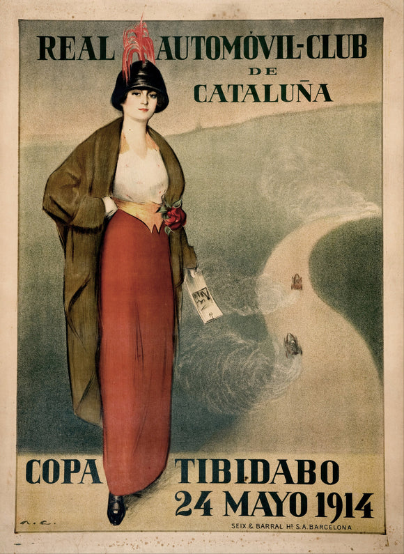 Real Automovil Club De Cataluna 1914 Vintage Racing Poster