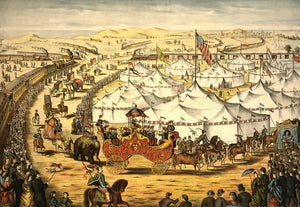 Circus Parade Around The Tents Circus Poster