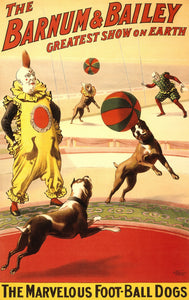 The Marvelous Football Dogs Circus Poster