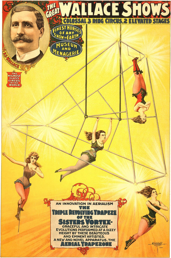 The Great Wallace Shows An Innovation In Aerialism Circus Poster