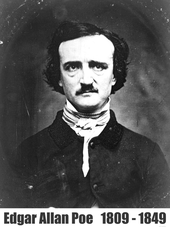 Edgar Allan Poe Portrait Photograph Taken In 1848.