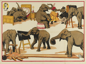 Vintage Elephant Circus Poster