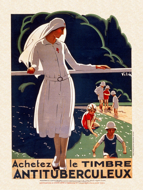 WWI Poster France Buy The Tuberculosis Stamp.