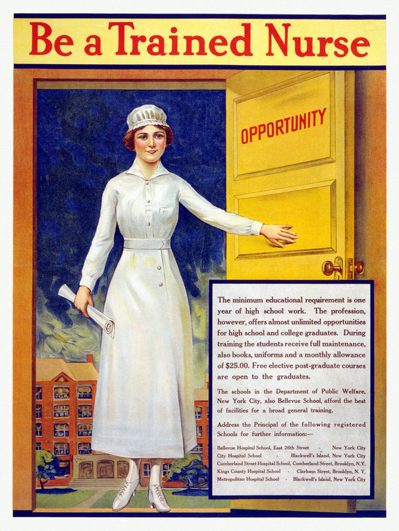 WWI Poster Be A Trained Nurse