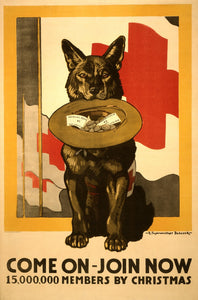 WWI Poster Come On Join Now 15,000,000 Members By Christmas / / R. Fayerweather