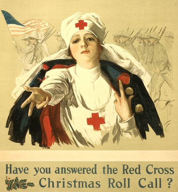 WWI Poster Have You Answered The Red Cross Christmas Roll Call? / Harrison Fishe