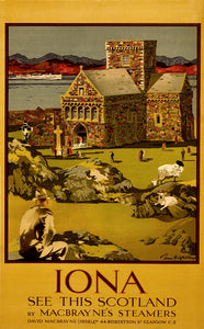 Vintage Scotland Travel Poster Iona See This Scotland