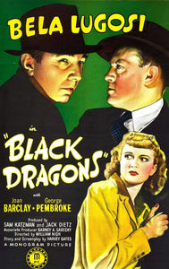 Movie Poster Bela Lugost Black Dragons