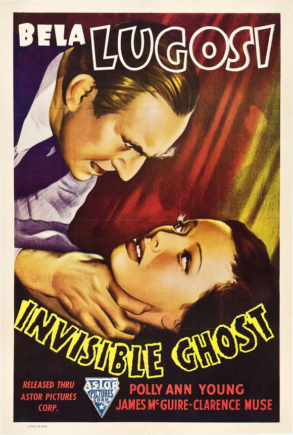 Bela Lugosi Invisible Ghost Movie Poster
