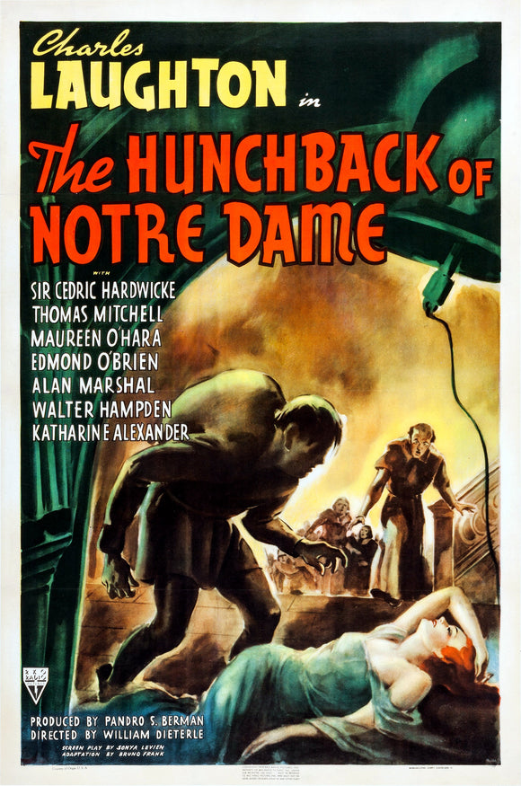 The Hunchback Of Notre Dame Charles Laughton Movie Poster