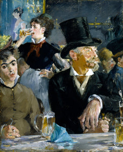 Edouard Manet At The Cafe 1879