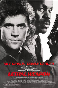 Lethal Weapon Poster//Lethal Weapon Movie Poster//Movie Poster//Poster Reprint
