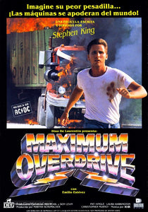 Maximum Overdrive Poster//Maximum Overdrive Movie Poster//Movie Poster//Poster Reprint