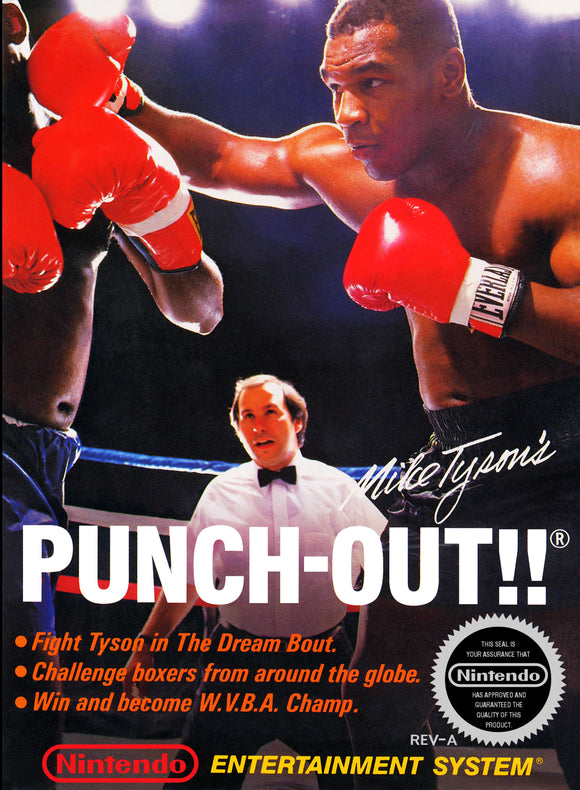 Retro Mike Tyson Punch Out Game Poster//NES Game Poster//Video Game Poster//Vintage Game Reprint