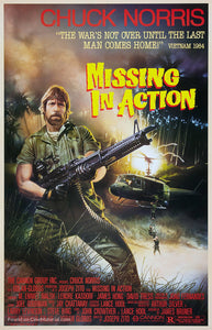 Missing in Action Poster//Missing in Action Movie Poster//Movie Poster//Poster Reprint
