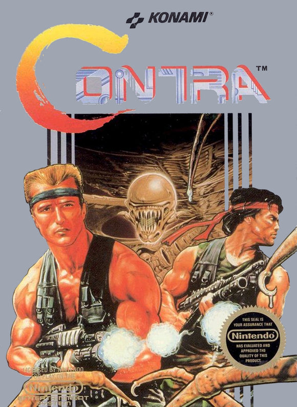 Retro Contra Game Poster//NES Game Poster//Video Game Poster//Vintage Game Reprint