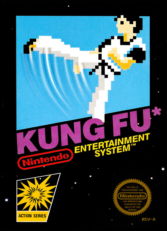 Retro Kung Fu Game Poster//NES Game Poster//Video Game Poster//Vintage Game Cover Reprint