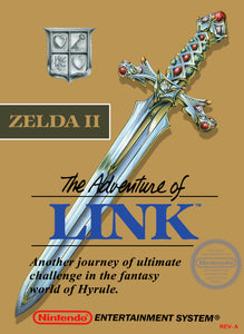 Retro Zelda 2: The Adventure of Link Game Poster//NES Game Poster//Video Game Poster//Vintage Game Cover Reprint