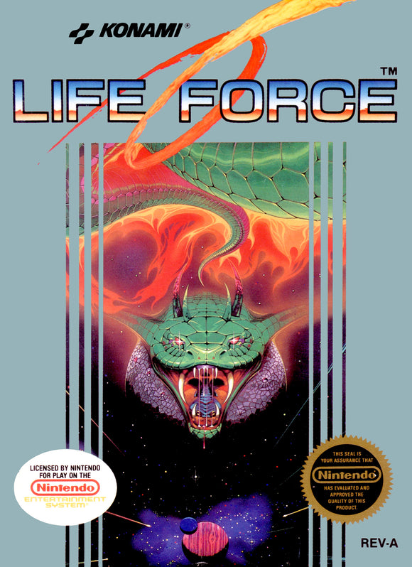 Retro Life Force Game Poster//NES Game Poster//Video Game Poster//Vintage Game Cover Reprint