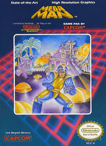 Retro Mega Man Game Poster//NES Game Poster//Video Game Poster//Vintage Game Cover Reprint