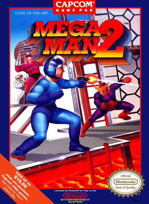 Retro Mega Man 2 Game Poster//NES Game Poster//Video Game Poster//Vintage Game Cover Reprint