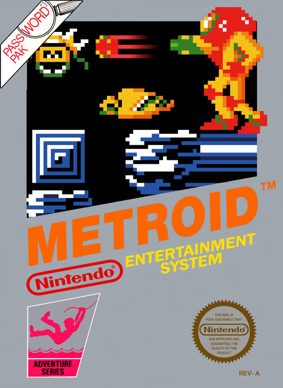 Retro Metroid Game Poster//NES Game Poster//Video Game Poster//Vintage Game Reprint