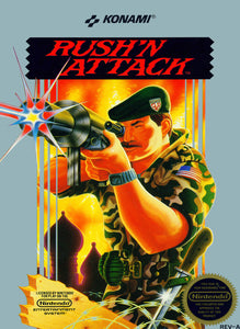 Retro Rush'n Attack Game Poster//NES Game Poster//Video Game Poster//Vintage Game Reprint