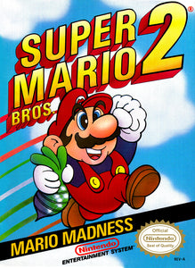 Retro Super Mario 2 Game Poster//NES Game Poster//Video Game Poster//Vintage Game Reprint